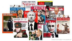 Шарж на Путина в зарубежных СМИ